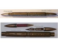 France British Trench Art WW1 Pen Pencil Set Cartridge Military Battle Loos 1915 British French WWI 1914 1918 Great War Patriotic