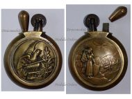 France WW1 Trench Art Petrol Lighter US Army Eagle Flag Joanne d'Arc Military WWI Great War Patriotic 1914 1918