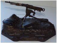 France Trench Art WW1 Hotchkiss Machine Gun M1914 French Military Inkwell 1914 1918 Great War Patriotic