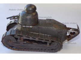 France Trench Art WW1 Renault FT17 Tank French Military Inkwell WWI Great War 1914 1918