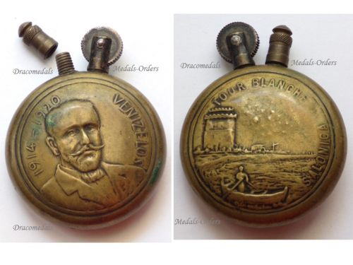 France Trench Art WW1 Lighter Salonica White Tower  Venizelos 1914 1920 Macedonian Front Greece Army of the East