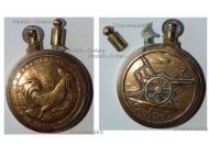 France Trench Art WW1 Lighter French Rooster Defense Verdun 1916 Artillery Gun 75mm by Fleury & Thiaumont