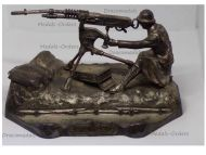 France Trench Art WW1 Hotchkiss Machine Gun M1914 Inkwell 170th Infantry Regiment by Ouveb