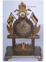 Germany Trench Art 32nd Infantry Reg Prussia Clock Holder Kaiser Wilhelm I Franco Prussian War 1870 Patriotic