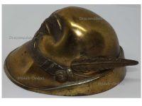Italy WW1 Italian Alpine Troops Cap Hat Alpini Desk Paperweight Patriotic Trench Art Great War WWI 1914 1918