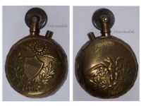 France WW1 Trench Art Petrol Lighter US Army Eagle emblem flag Military West Front WWI Great War Patriotic 1914 1918