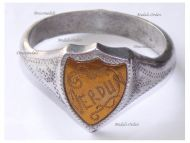 France Trench Art WW1 Patriotic Ring for the Battle of Verdun (Desk Weight)
