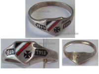 Germany WW1 Ring Patriotic Iron Cross EK1 Trench Art 1914 1916 German Silver 800 Prussia WWI 1918 Great War