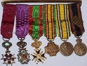 Belgian Miniature Medals